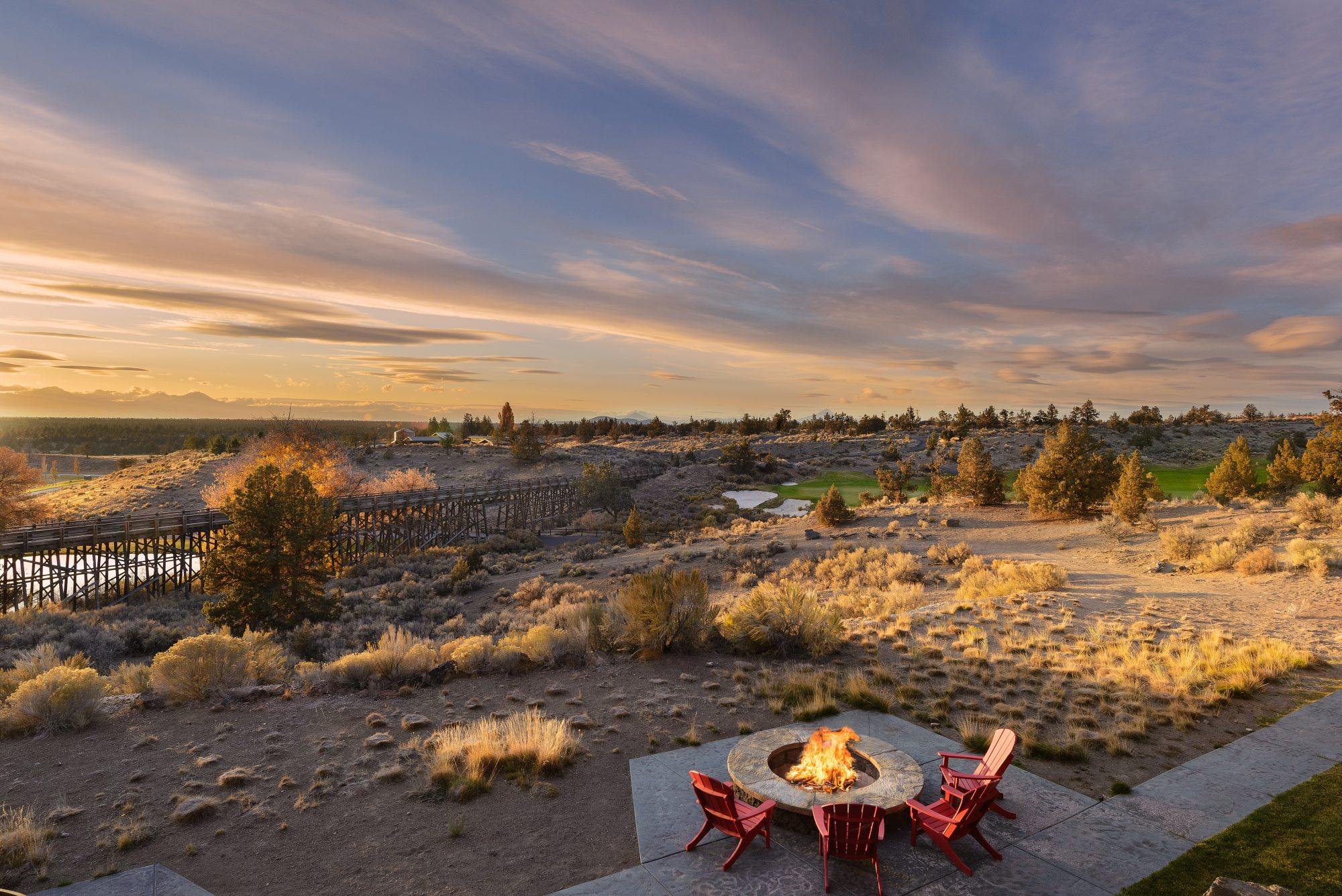 best resorts bend oregon pronghorn fire pit